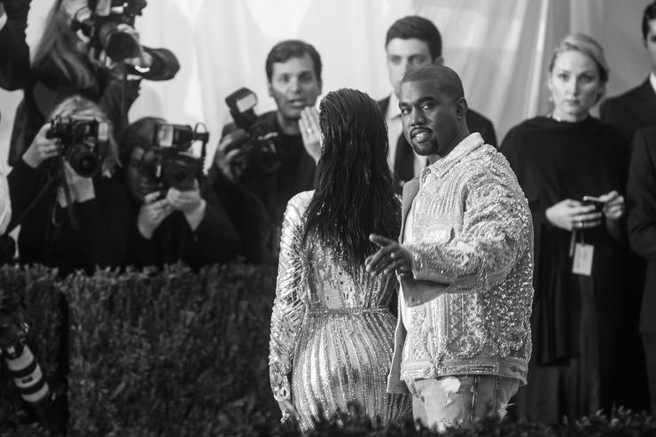 Kanye West and Kim Kardashian at the Met Gala 2016
