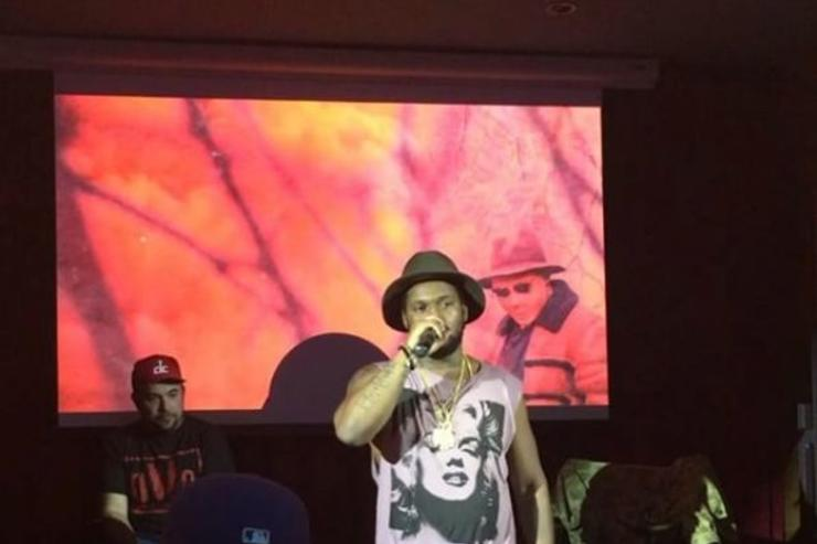 Schoolboy Q x Rosenberg at listening party