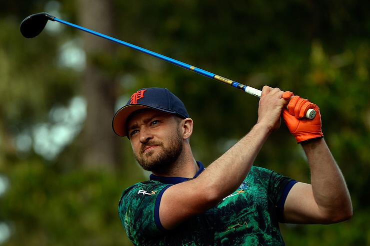 d375615560f24 Man Arrested After Touching Justin Timberlake s Face At A Golf Tournament