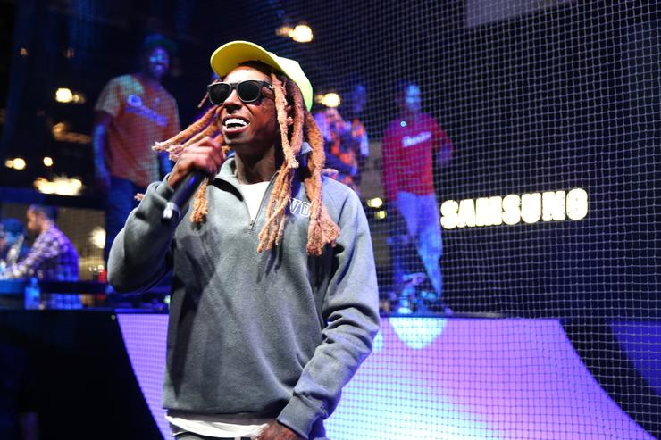 Lil Wayne at Samsung event