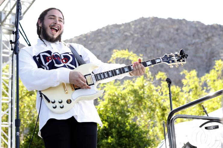 Post Malone with a guitar