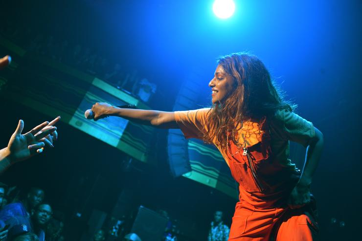 M.I.A. performing live