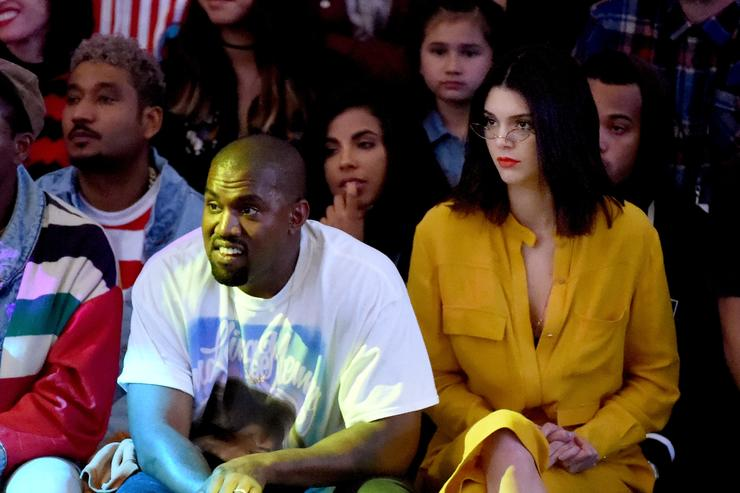 Kanye West with Kendell Jenner at Tyler the Creator's Made LA show