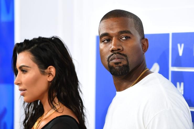 Kanye West and Kim Kardashian at MTV VMAs