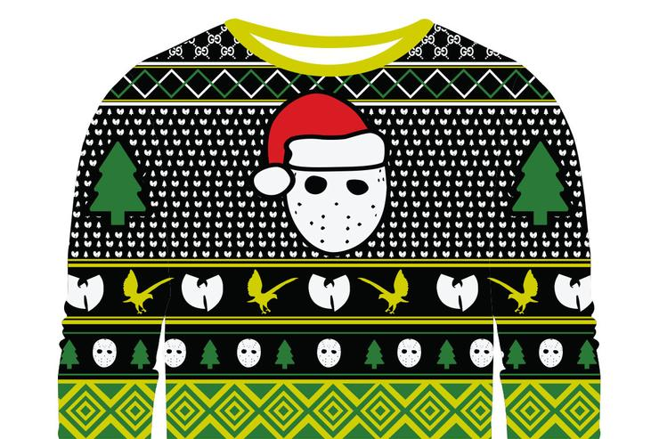 Ghostface Killah's ugly Christmas sweater.