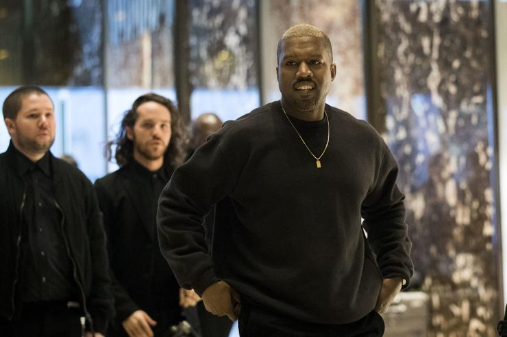 Kanye West visiting Trump at Trump Towers