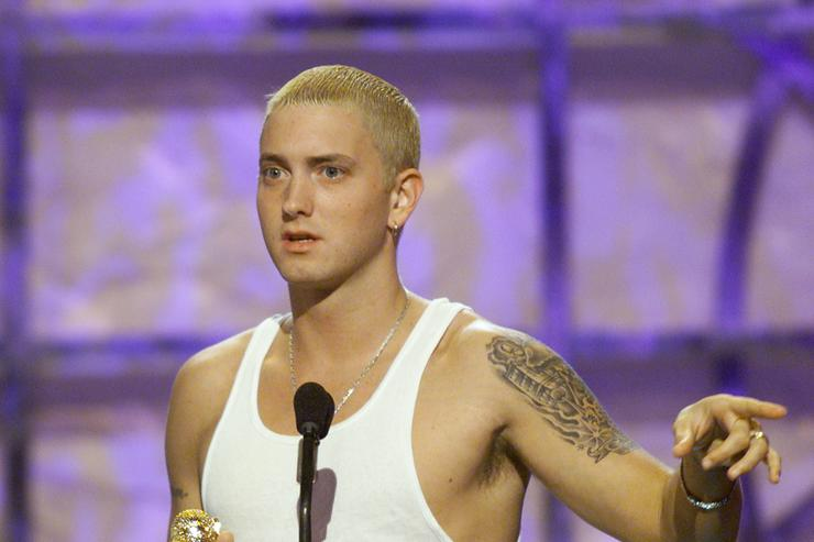 Eminem won Music Video of the Year at 'The Source Hip Hop Music Awards 2000' at the Pasadena Civic Auditorium in Los Angeles, Ca.