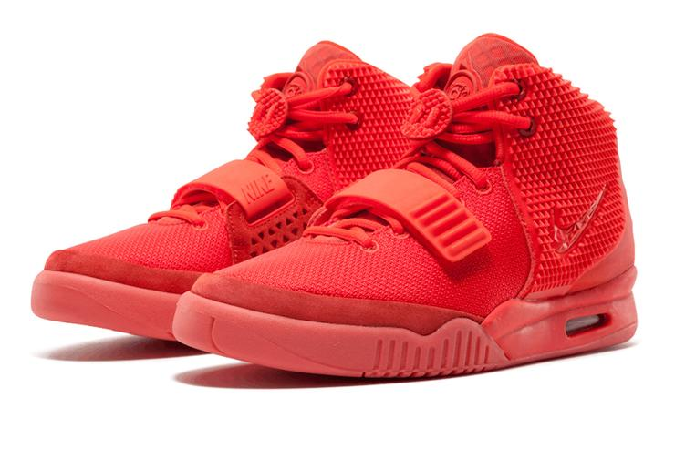 "10. Nike Air Yeezy 2 ""Red October"""
