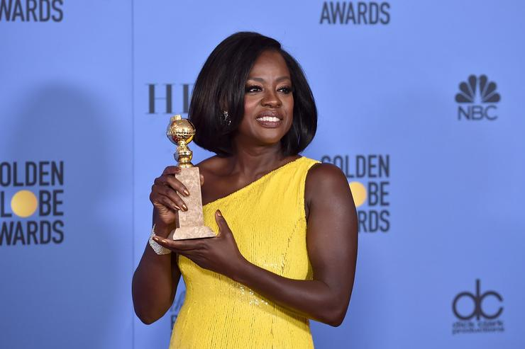 Actress Viola Davis, winner of the Best Performance by an Actress in a Supporting Role in Any Motion Picture for 'Fences', poses in the press room during the 74th Annual Golden Globe Awards at The Beverly Hilton Hotel on January 8, 2017 in Beverly Hills, California.