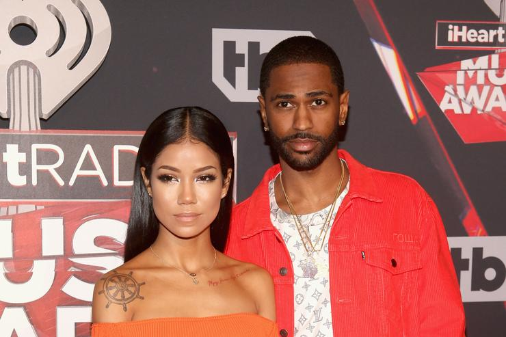 Big Sean and Jhene Aiko at the iHeartradio music awards
