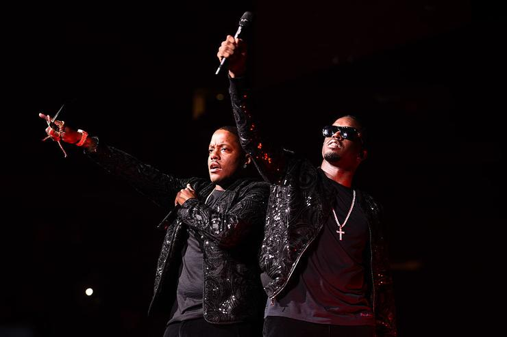 Mase and Puff Daddy perform during Puff Daddy and Bad Boy Family Reunion Tour at Madison Square Garden on September 4, 2016 in New York City.