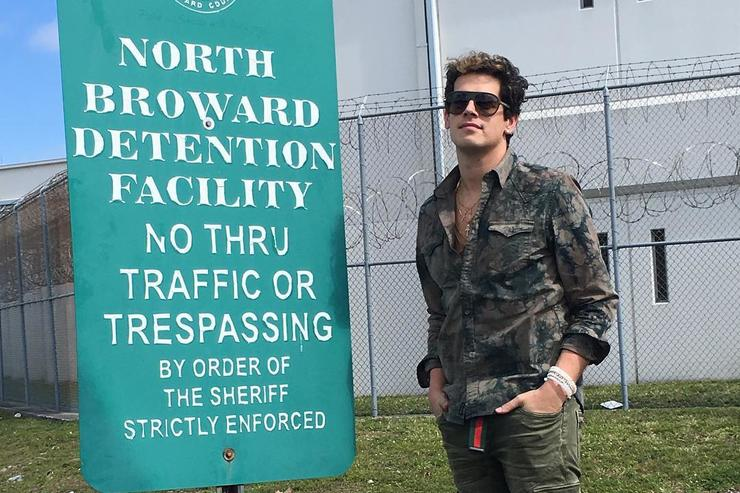 Milo Yiannopolous at North Broward county Detention Facility.