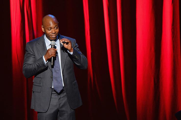 A view of atmosphere outside as comedian/actor Dave Chappelle performs at Radio City Music Hall on June 19, 2014 in New York City.
