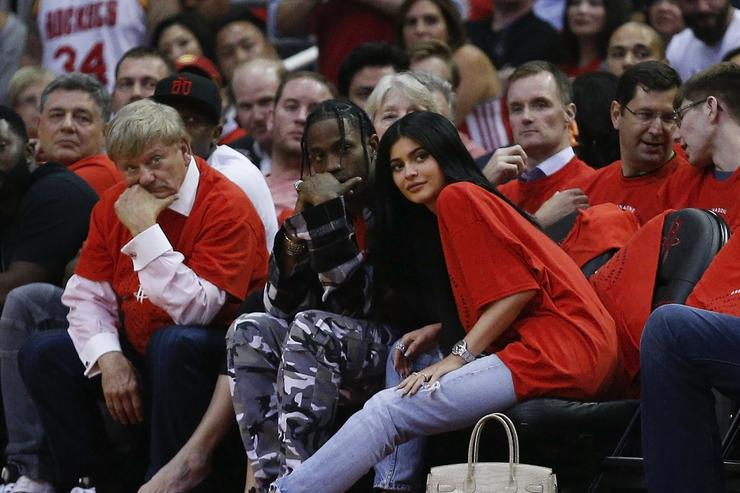 Kylie Jenner Travis Scott Oklahoma City Thunder v Houston Rockets