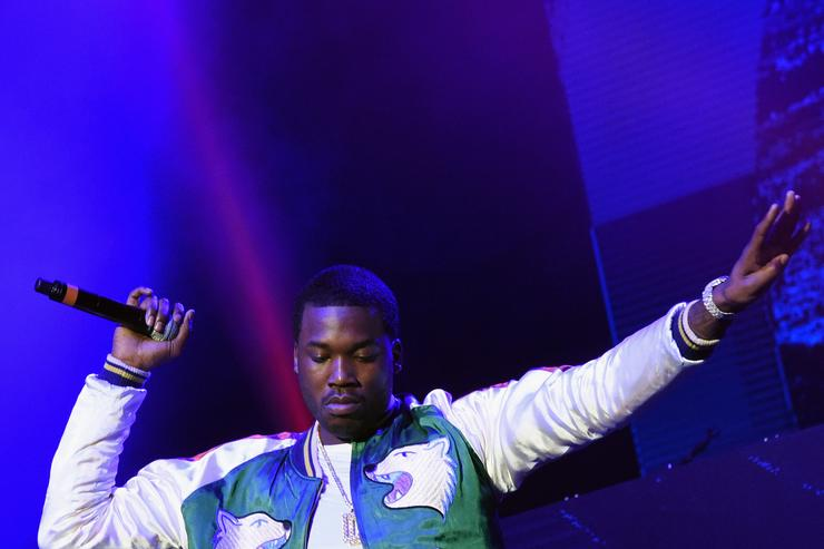 Meek Mill V-103 Live Pop Up Concert