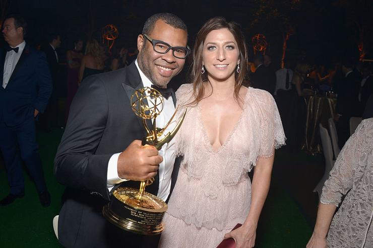 Actors Jordan Peele and Chelsea Peretti attend the 68th Annual Primetime Emmy Awards Governors Ball at Microsoft Theater on September 18, 2016 in Los Angeles, California.