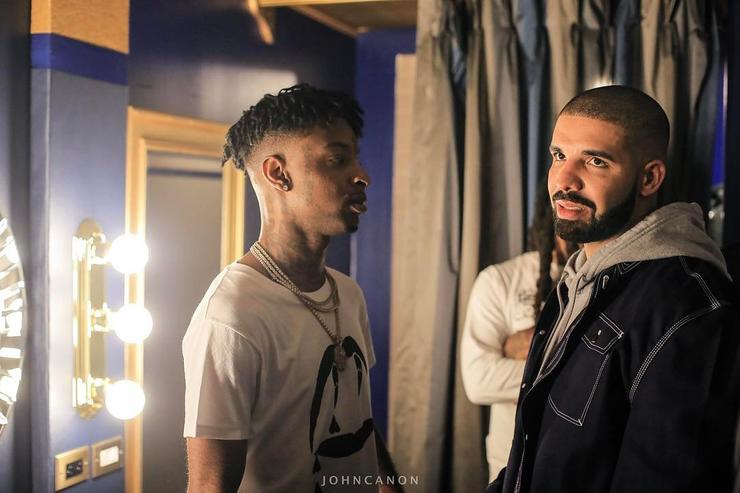 Drake and 21 Savage photographed by John Canon