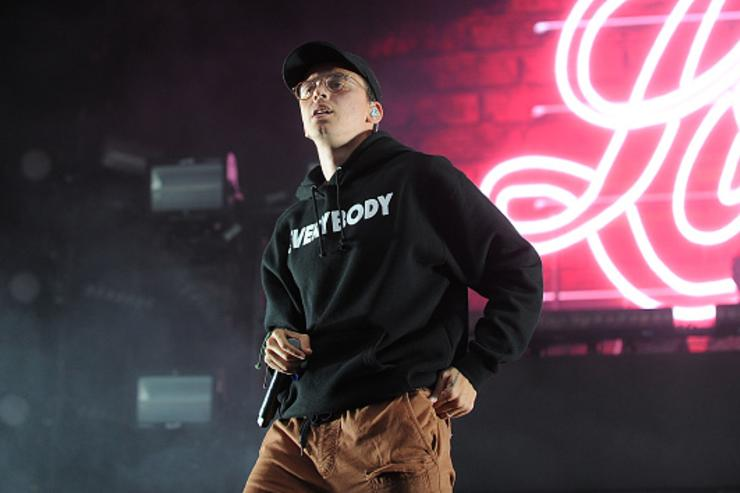 Logic performing at Governor's Ball Music Festival.