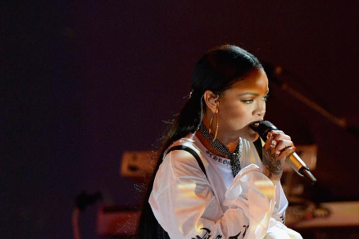 Rihanna performing at Global Citizen Festival.