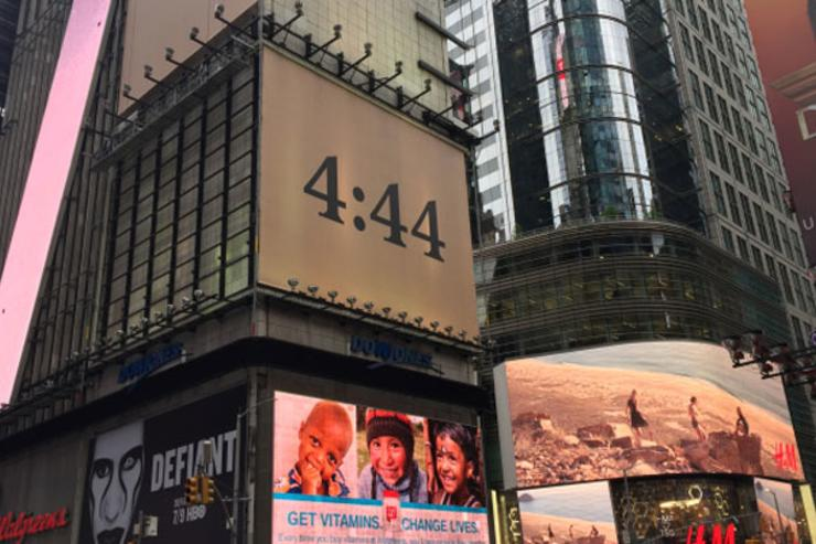 """4:44"" ad in Times Square"