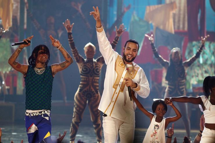 French Montana performing at BET Awards