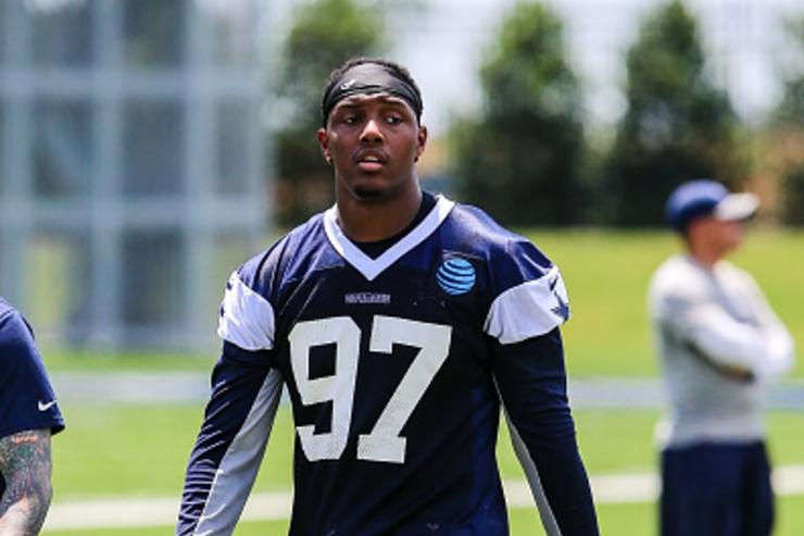Taco Charlton at rookie camp