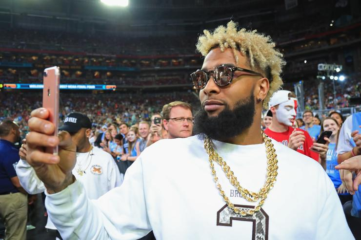 Odell Beckham Jr at NCAA National Championship game