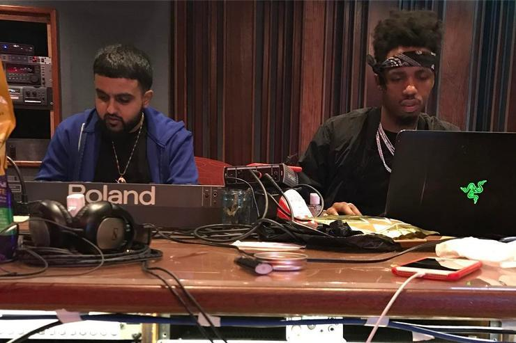 Nav & Metro Boomin in the studio