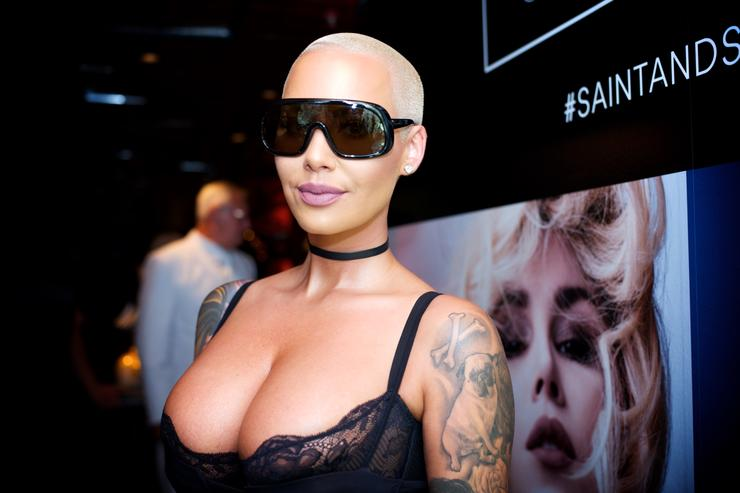 Amber Rose Kat Von D Beauty Fragrance Launch Press Party #SAINTANDSINNER At Roosevelt