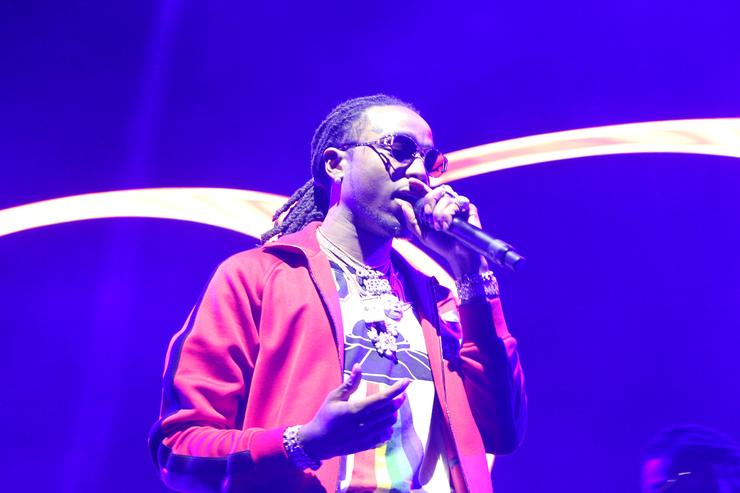 Quavo on stage at BET Xperience