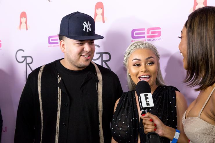 Rob Kardashian Blac Chyna Birthday Celebration And Unveiling Of Her 'Chymoji' Emoji Collection
