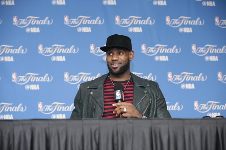 LeBron speaks to media during NBA Finals