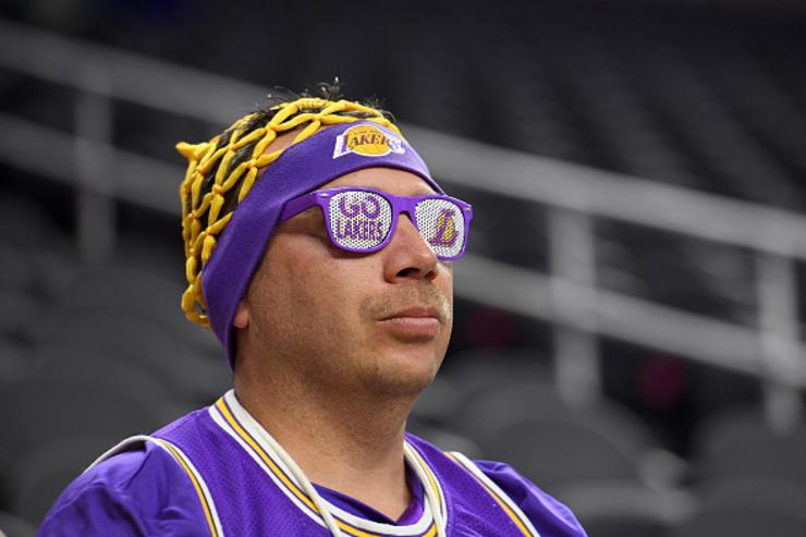 Lakers fan, ready for action