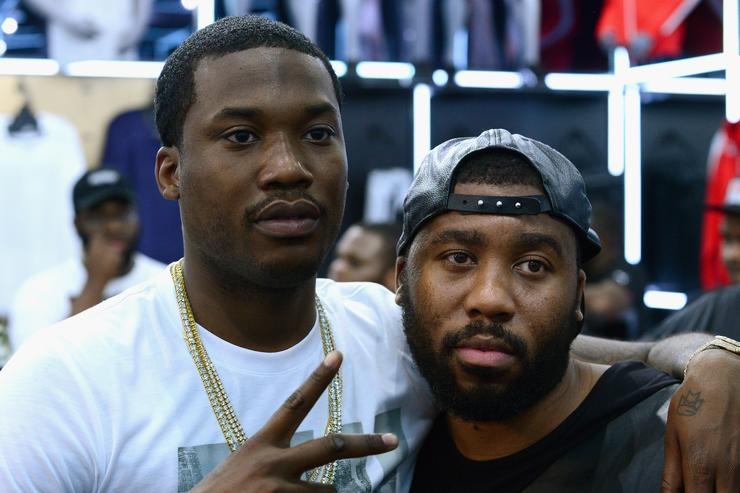 Meek Mill Visits New Puma Lab Powered By Foot Locker At Roosevelt Mall In Philadelphia