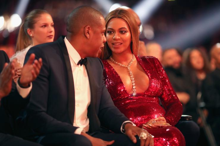 Jay-Z, Beyoncé The 59th GRAMMY Awards - Roaming Show