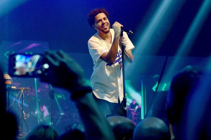 J. Cole ESPN The Party - Inside