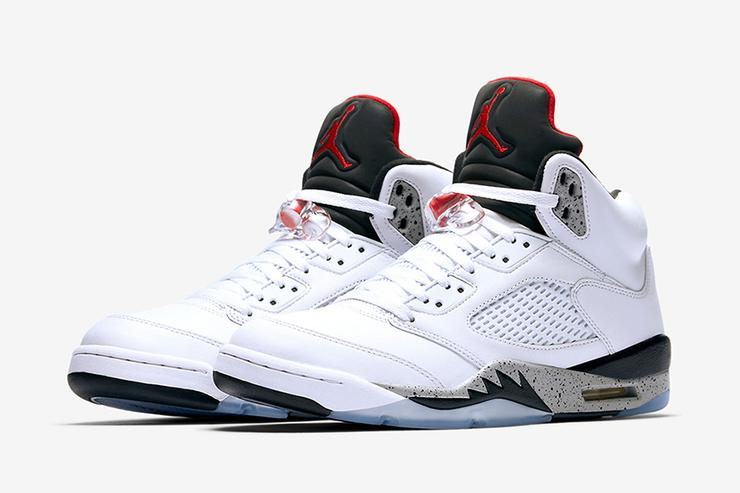 White Cement Air Jordan 5