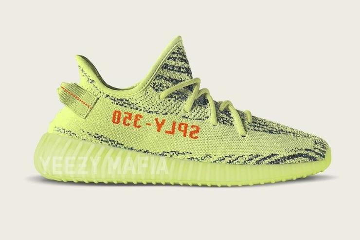 Semi Frozen Yellow Yeezy Boost 350 V2