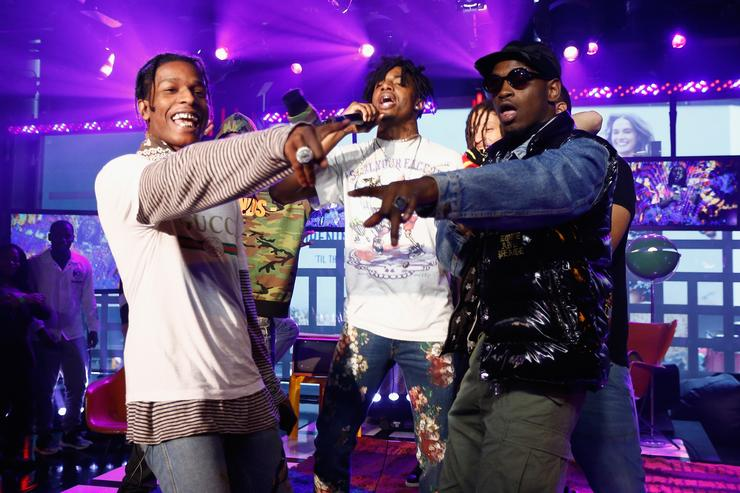 ASAP Rocky, Playboi Cart & ASAP Nast at MTV