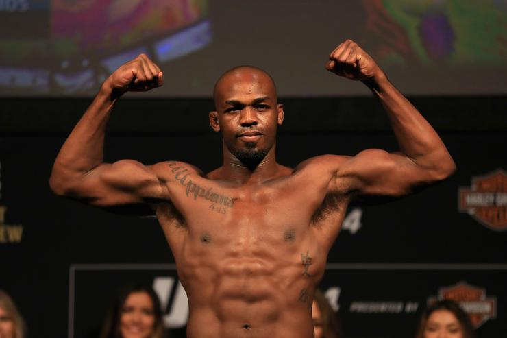 Jon Jones at UFC 214 Weigh-in