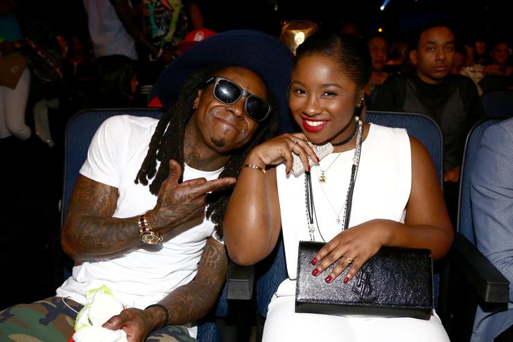 Lil Wayne & Reginae Carter at 2014 BET Awards