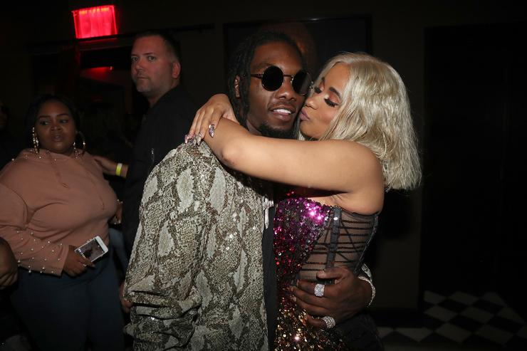 Cardi B kisses Offset at NYLON NYFW party