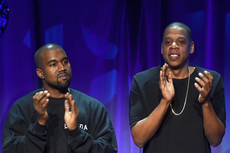 Kanye West & Jay Z at Tidal Launch