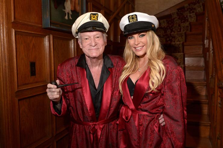 Hugh Hefner at Playboy Mansion House Party