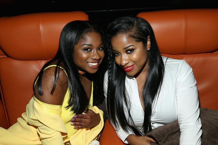 Toya Wright and her daughter Reginae Carter in 2017