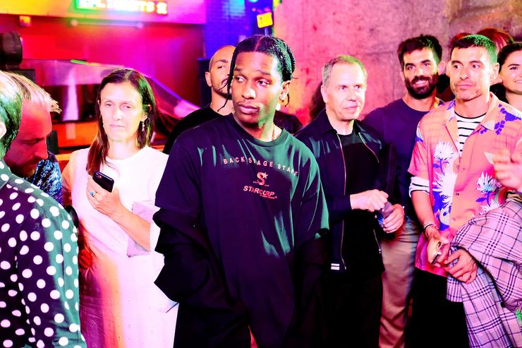A$AP Rocky with a crowd