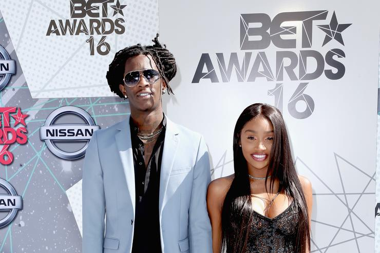 Young Thug & Jerrika Karlae at 2016 BET Awards