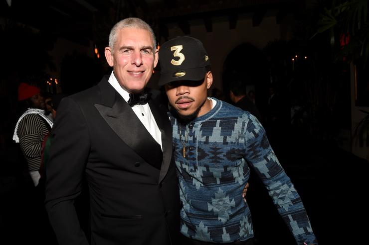 Lyor Cohen & Chance the Rapper at 2017 Grammys