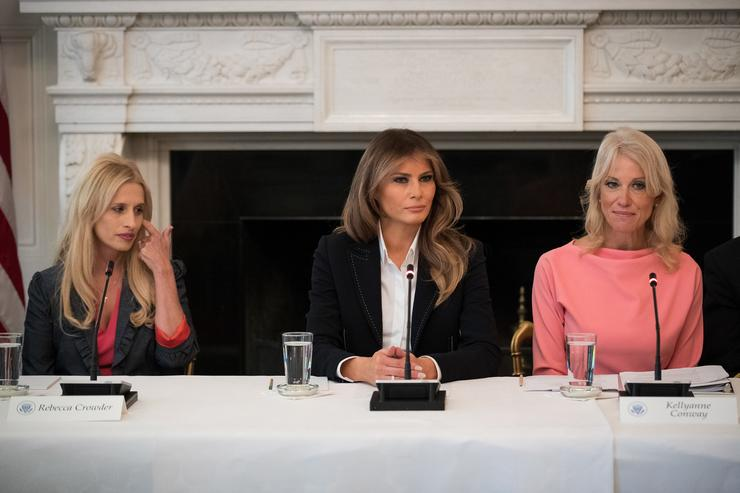 Melania Trump Hosts Listening Session On Opioid Crisis At White House