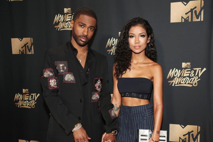 Big Sean and Jhene Aiko at MTV event
